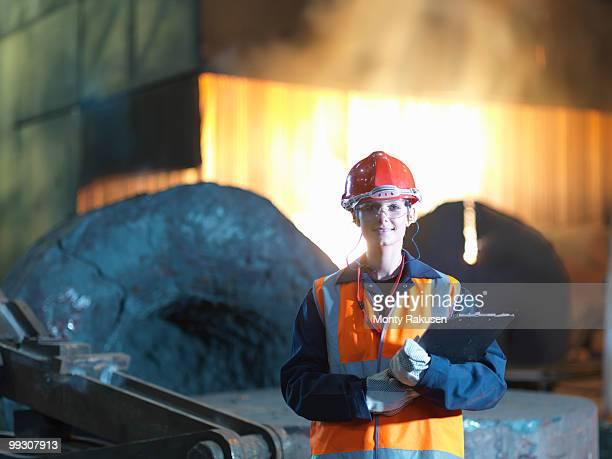 Portrait Of Female Steel Engineer