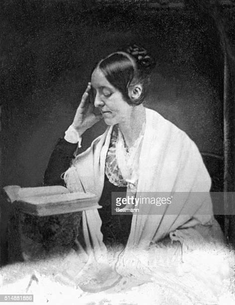 Portrait of feminist and writer Margaret Fuller . From daguerreotype. Undated.