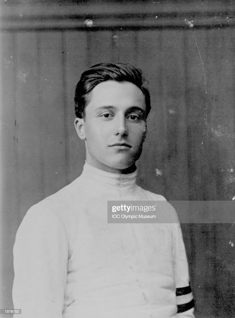 1920:  A portrait of fencer Nedo Nadi of Italy, regarded as the outstanding fencer of the century.   : News Photo