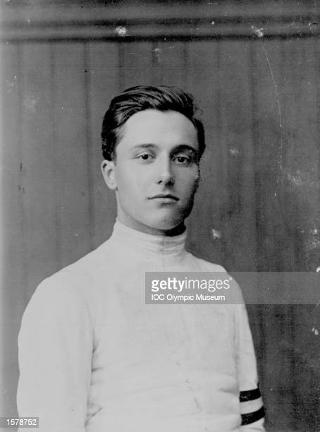 A portrait of fencer Nedo Nadi of Italy regarded as the outstanding fencer of the century He won the first of his six Olympic gold medals in...