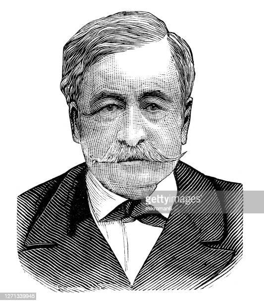 portrait of ferdinand de lesseps who was a french diplomat and the developer of the suez canal - ambassador stock pictures, royalty-free photos & images