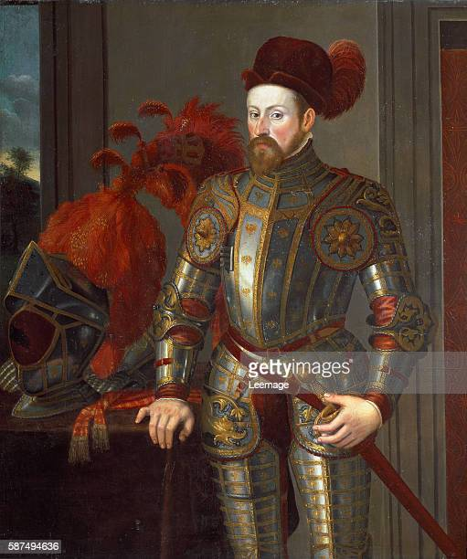 Portrait of Ferdinand II archduke of Austria Painting attributed to Francesco Terzio after 1546 Dim 135x130 cm Vienna Kunsthistorisches Museum inv...