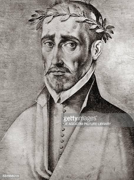 Portrait of Fernando de Herrera Spanish poet and writer engraving by Francisco Pacheco 1599 Spain 16th century