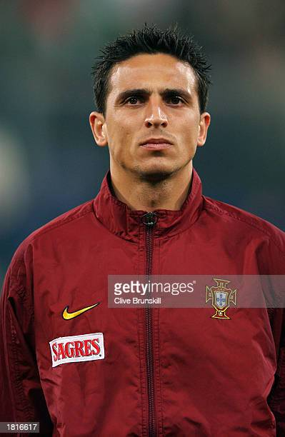 Portrait of Fernando Meira of Portugal taken before the International Friendly match between Italy and Portugal held on February 12 2003 at the...