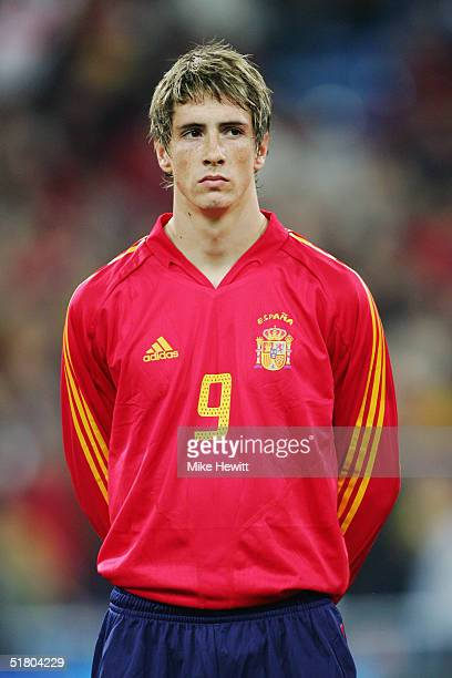 A portrait of Fernando Torres of Spain prior to the international friendly match between Spain and England on November 17 2004 at the Estadio...