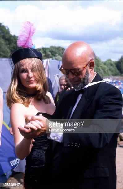 Portrait of festival organiser Micheal Eavis Glastonbury United Kingdom 2000
