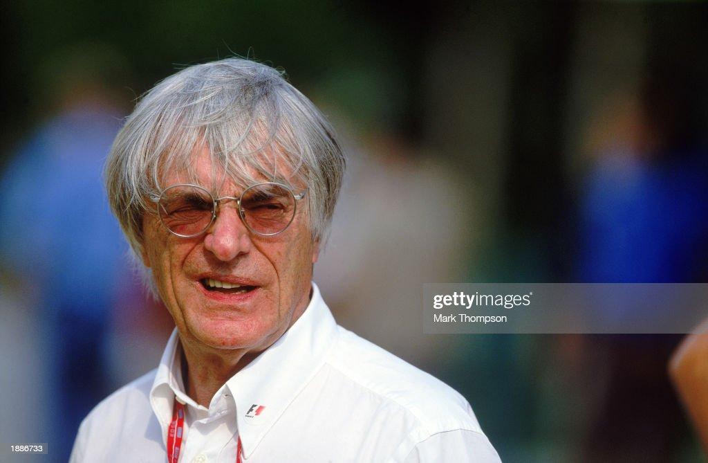 Portrait of FIA boss Bernie Ecclestone during the Malaysian Formula One Grand Prix held on March 23, 2003 at the Sepang International Circuit, in Kuala Lumpur, Malaysia.