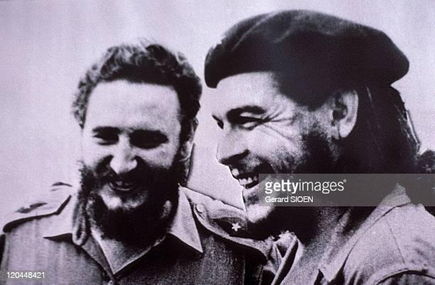 Portrait of Fidel Castro and Ernesto Che Guevara in Havana, Cuba - Museum of Revolution, photo of Fidel Castro and Che Guevara, taken in 1958 after...