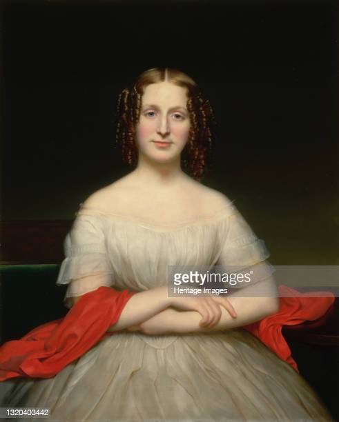 Portrait of Fidelia Marshall, circa 1840. Artist Charles Cromwell Ingham.