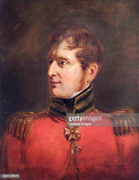 Portrait of Field Marshal Lord Fitzroy James Henry Somerset British soldier 1821 Later Lord Raglan Somerset served as Wellington's Military Secretary...