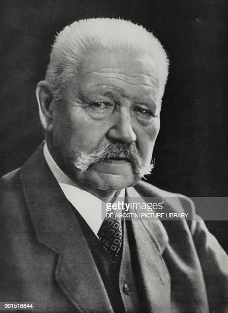 Portrait of field marshal Paul von Hindenburg photo by Scherls from L'illustrazione Italiana year LXI n 31 August 5 1934
