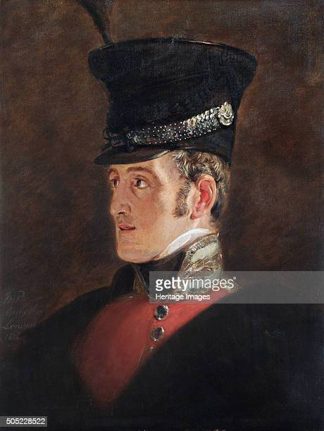 Portrait of Field Marshal Sir John Colborne British soldier 1821 In 1815 at the Battle of Waterloo Colonel Colbourne commanded the 52nd Foot who were...