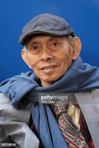 Portrait of Filipino artist David Medalla Venice Italy May 9 2017