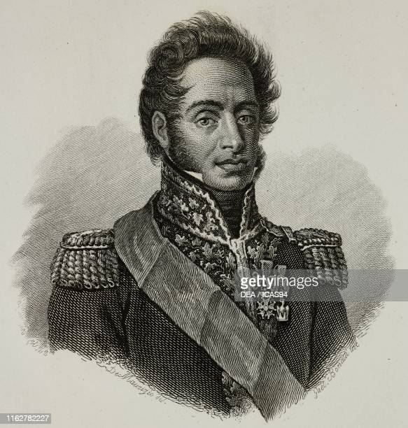 Portrait of Filippo Severoli Italian general engraving by Gaetano Bonatti after a drawing by De Maurizio from Vite dei primarj marescialli e generali...