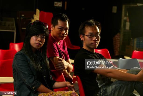 Portrait of film directors Mak Yanyan Frank Hui Hokman and Stanley Tam Kwokwing at HKAPA Wan Chai 06 September 2006