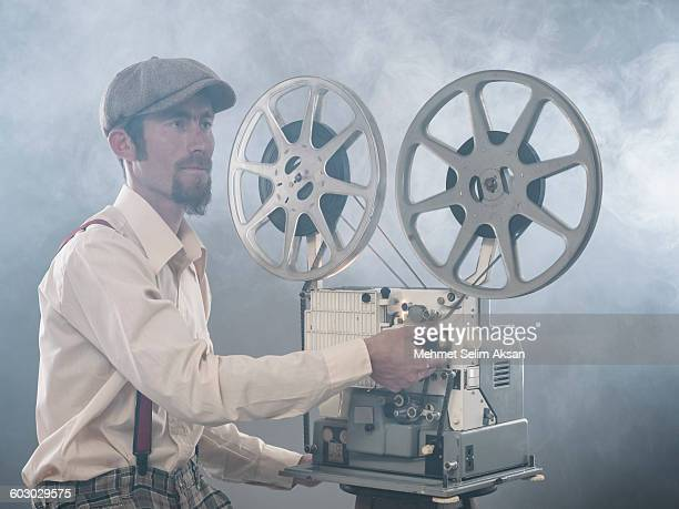 Portrait of film projectionist