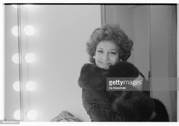 Portrait of fiorenza cossotto Opera singer backstage at Giuseppe Verdi's Il Trovatore San Francisco California USA