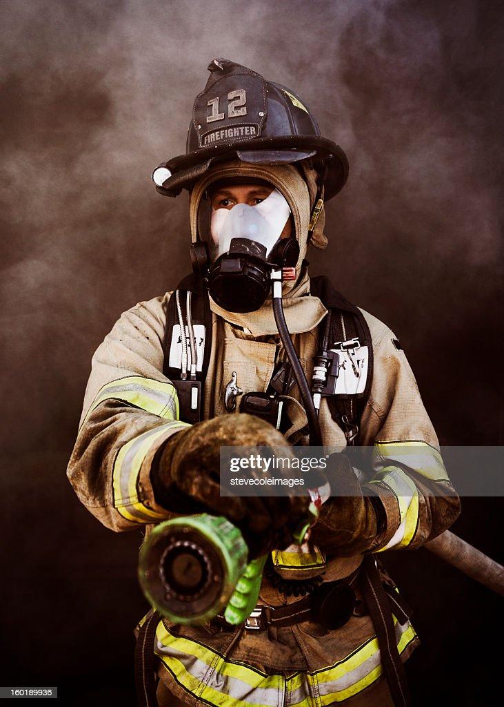 Portrait of Firefighter : Stock Photo
