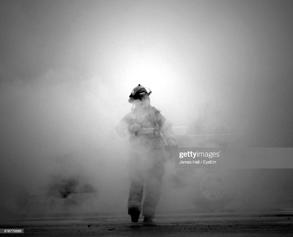 Portrait Of Firefighter : Foto de stock