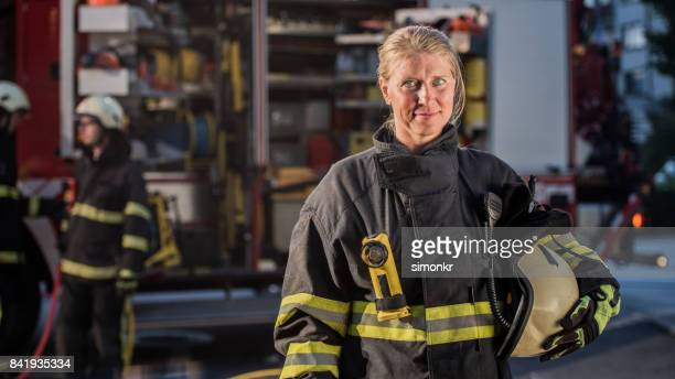 "Portrait of firefighter""n"