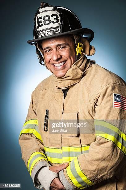 Portrait of fireman smiling
