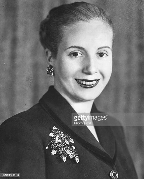 Portrait of First Lady and Spiritual Leader of the Nation of Argentina Maria Eva Duarte de Peron Buenos Aires Argentina March 1951