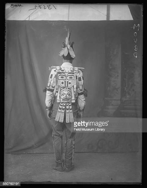 Portrait of First Nations Kwakiutl Tsawataineuk man Charly Nowell in a Hamatsa dress at the Louisiana Purchase Exposition St Louis Missouri June 6...