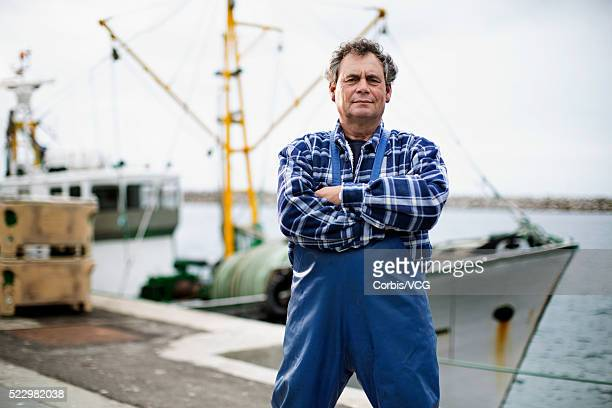 portrait of fisherman - fisherman stock pictures, royalty-free photos & images