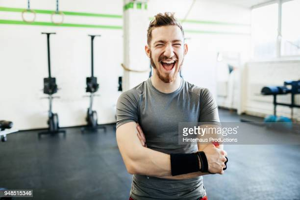 Portrait Of Fitness Trainer Laughing