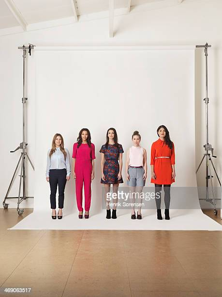Portrait of five young women