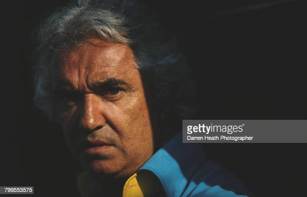 A portrait of Flavio Briatore team principal for the Mild Seven Renault F1 Team during the Formula One San Marino Grand Prix on 23 April 2006 at the...