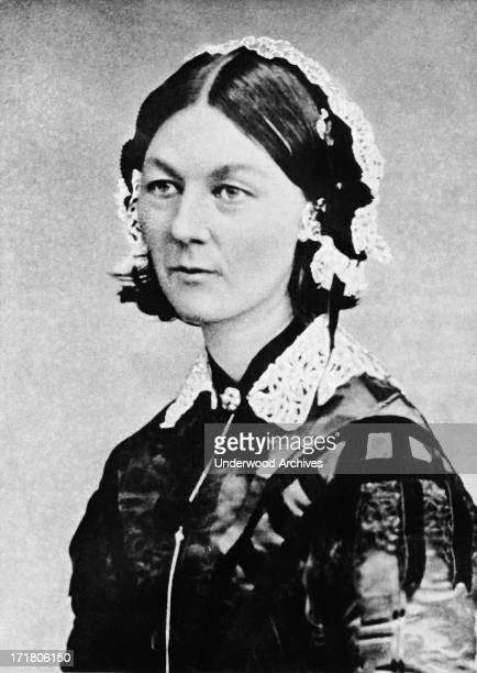 A portrait of Florence Nightingale during the time she was tending to the wounded during the Crimean War Russia circa 1855