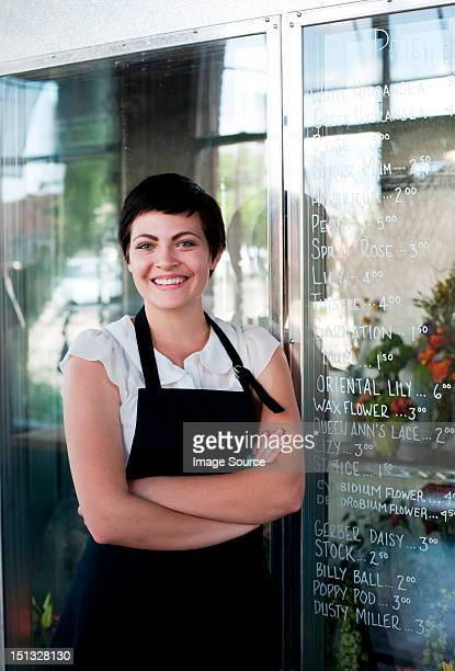Portrait of florist, arms crossed