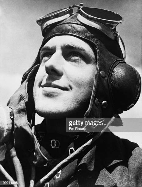 RAF Pilot Officer Douglas Grice of No 32 Squadron 29th July 1940 Grice flew a Hawker Hurricane fighter during the Battle of Britain