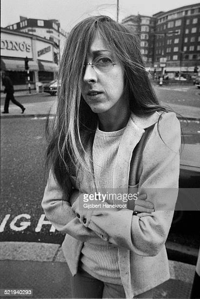 Portrait of folk singer Judee Sill in London in 1972 on tour to promote her second album 'Heart Food'