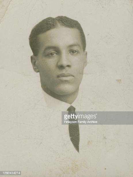 Portrait of footballer Walter Tull as a young man, taken in Glasgow in the early 1900s. Walter Tull's older brother Edward lived and worked in...