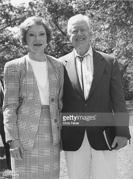 Portrait of former American First Lady Roslyn Carter and her husband former President Jimmy Carter Plains Georgia 1994