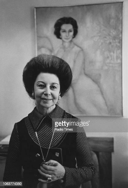 Portrait of former ballerina Dame Alicia Markova, February 1974.