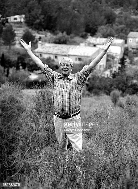 Portrait of former Blue Peter presenter John Noakes at his home in Majorca Spain 2000