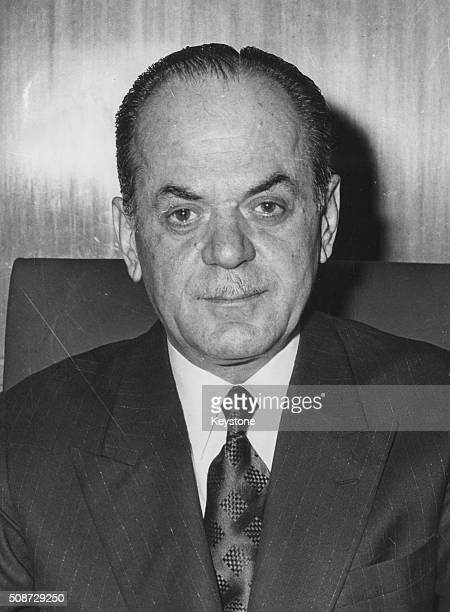 Portrait of former Greek President Georgios Papadopoulos at the time of the fall of his regime and the end of the military Junta 1974