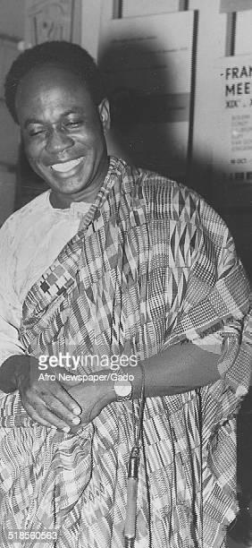 Portrait of former president of Ghana Kwame Nkrumah 1958