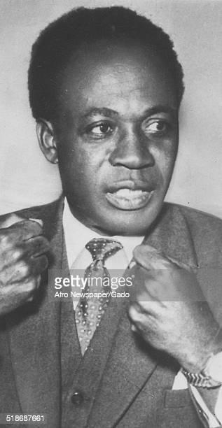 Portrait of former president of Ghana Kwame Nkrumah 1960