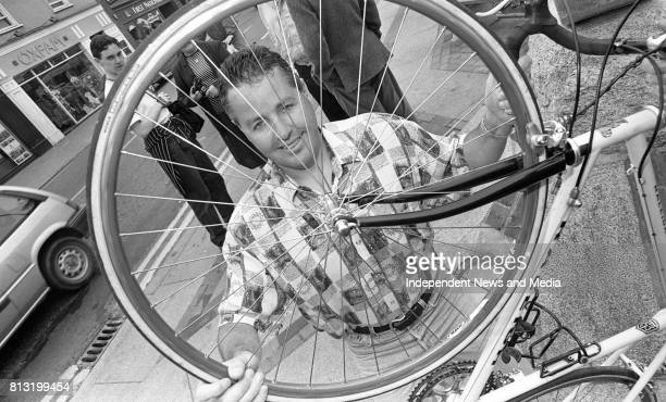 Portrait of former professional cyclist Stephen Roche, .
