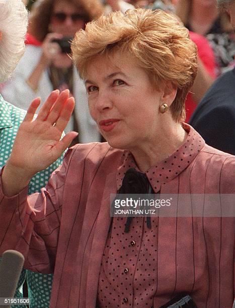 Portrait of former Russian First lady Raisa Gorbachev taken 02 June 1990 in Washington. Raisa Gorbachev, wife of former Soviet president Mikhail...