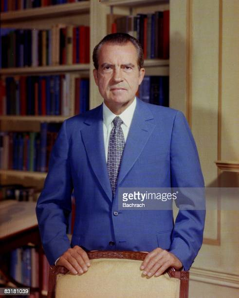 Portrait of former United States President Richard Nixon taken in the White House Washington DC 1972