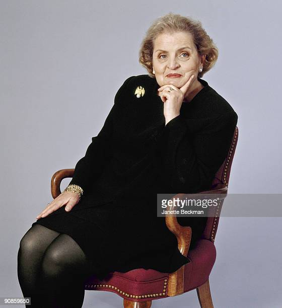 Portrait of former United States Secretary of State Madeleine Albrigth February 2000