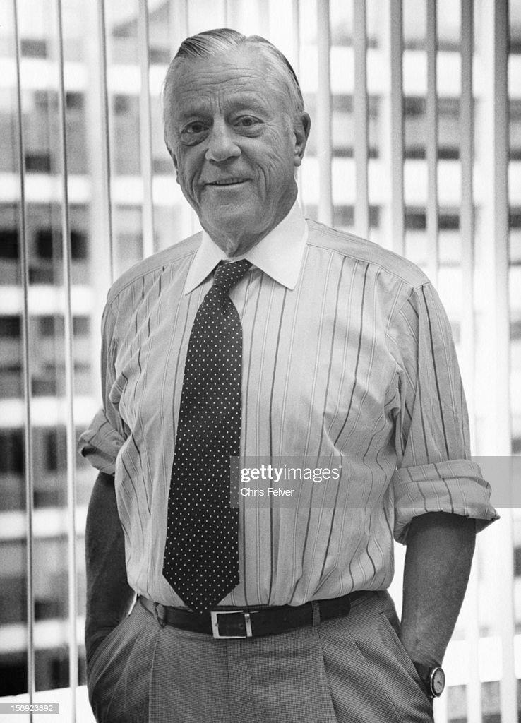 Portrait of former Washington Post Executive Editor, journlaist Ben Bradlee, Washington DC, 1994.