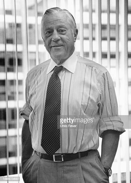 Portrait of former Washington Post Executive Editor journlaist Ben Bradlee Washington DC 1994