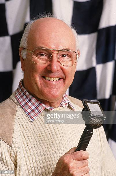 Portrait of Formula One commentator Murray Walker Mandatory Credit John Gichigi /Allsport