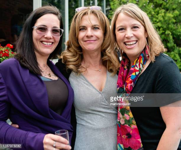 """portrait of forty something women outdoor in summer. - """"martine doucet"""" or martinedoucet stock pictures, royalty-free photos & images"""